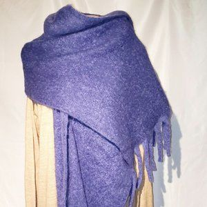 3FOR25$ Huge ultra soft long winter purple scarf